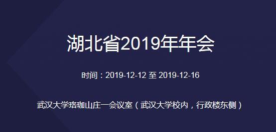 湖北省2019年年会